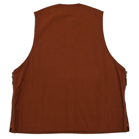 Beams Plus Pullover Utility Vest Brown shoplostfound front
