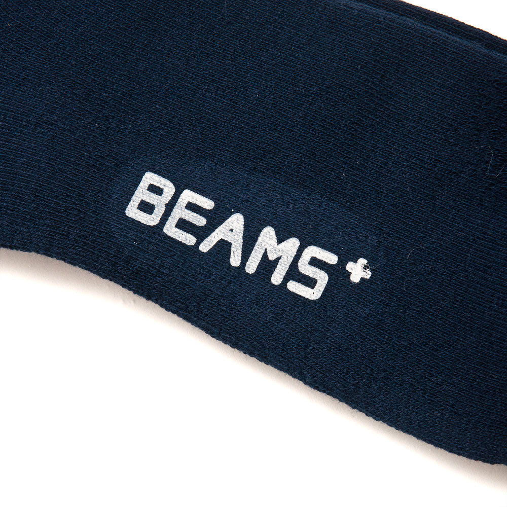 Beams Plus Schoolboy Socks 1/4 New Navy shoplostfound detail