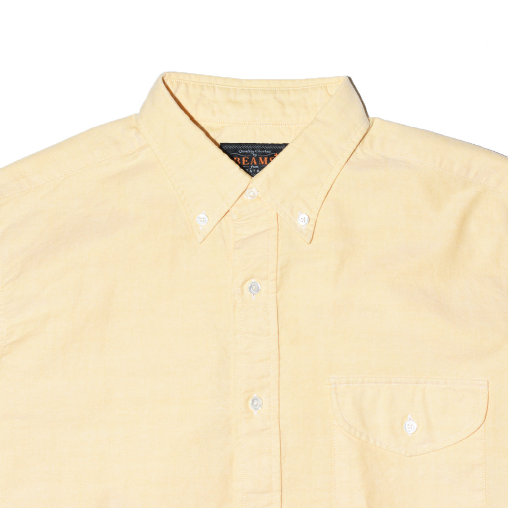 beams-plus-short-sleeve-b-d-oxford-yellow-detail