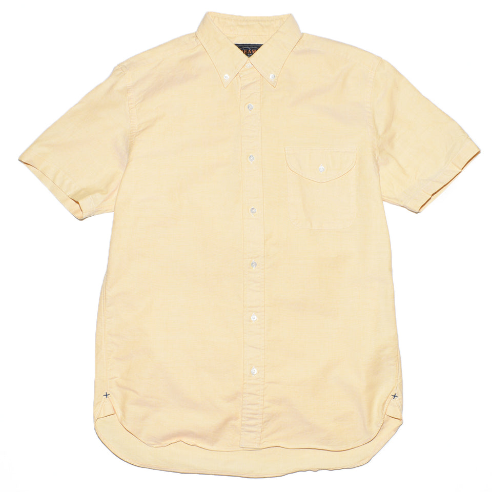 beams-plus-short-sleeve-b-d-oxford-yellow-front