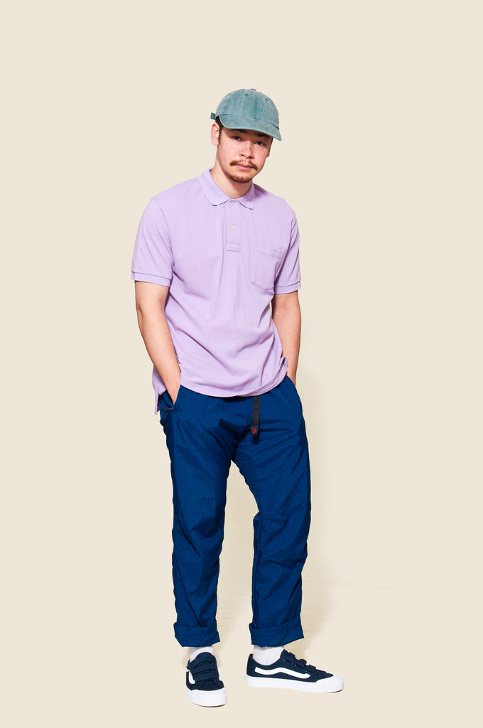 Battenwear Polo Shirt Lavender at shoplostfound, Moya
