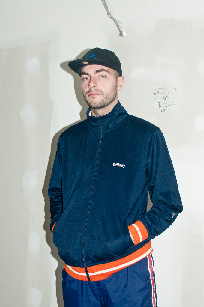 Stüssy Poly Track Jacket Navy at shoplostfound, Holden