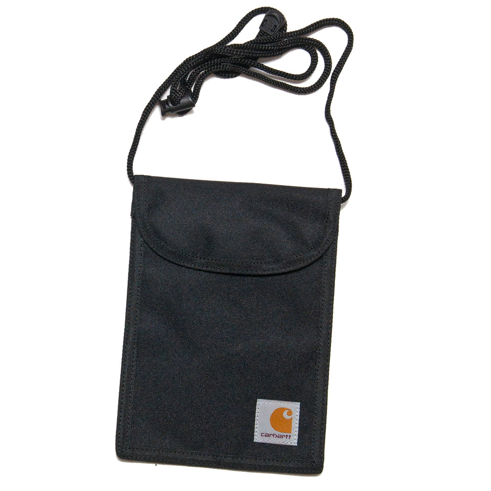 Carhartt W.I.P. Collins Neck Pouch Black at shoplostfound, front