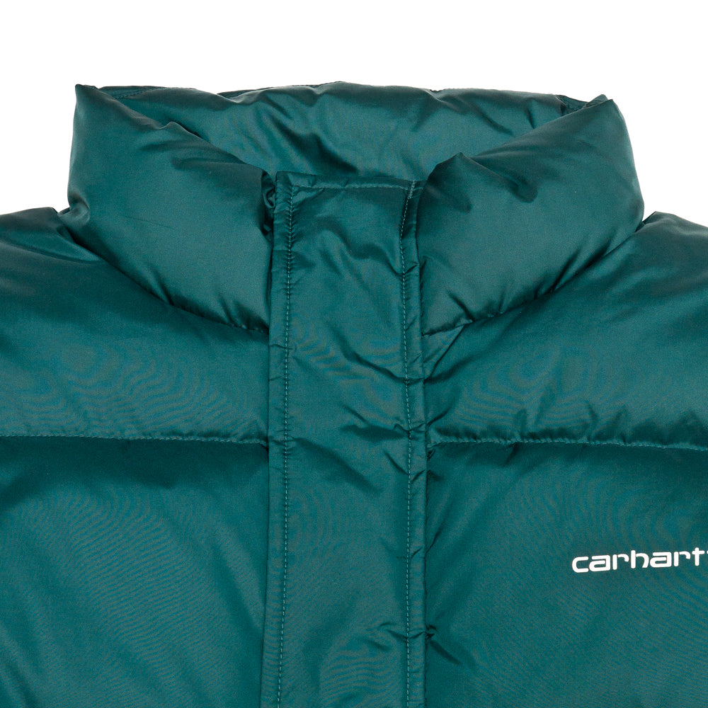Carhartt W.I.P. Deming Jacket Dark Fir at shoplostfound, neck
