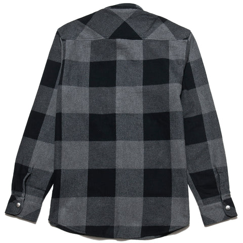 Carhartt W.I.P. L/S Graham Shirt Dark Grey at shoplostfound, front