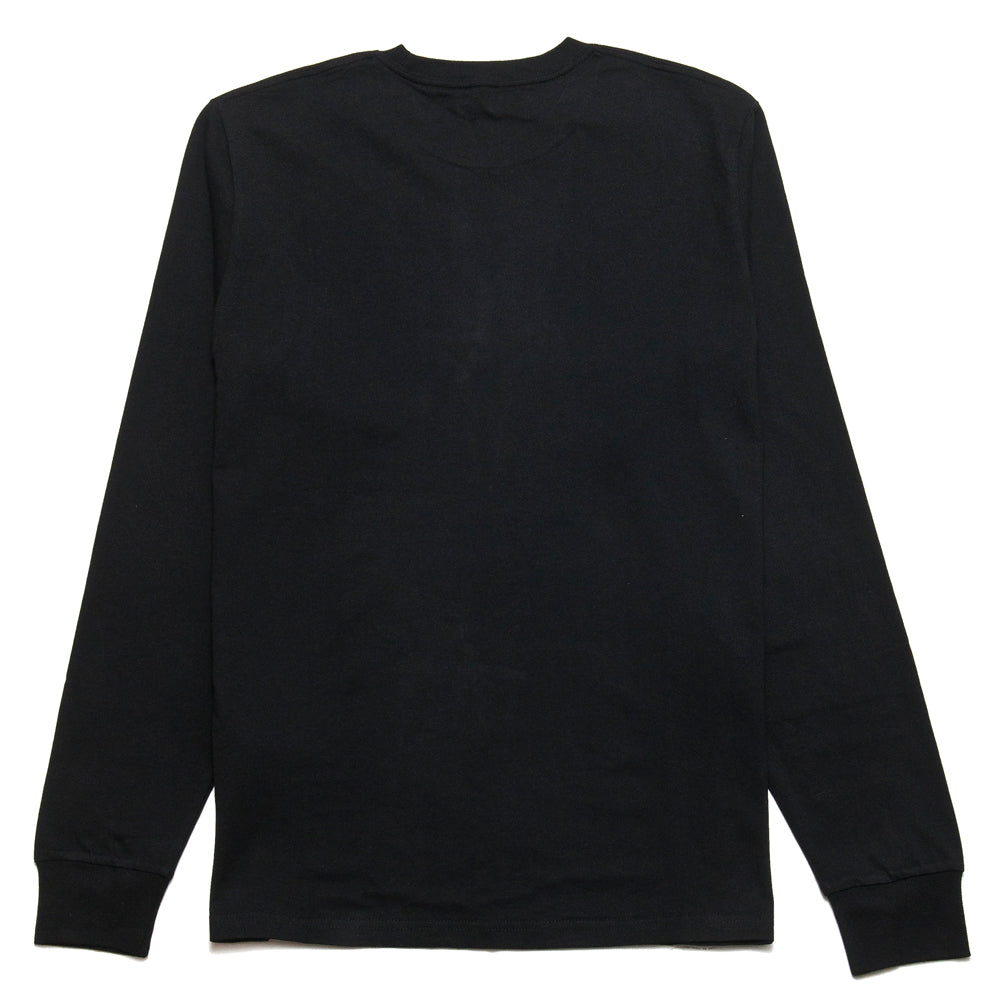 Carhartt W.I.P. Long Sleeve Pocket T-Shirt Black at shoplostfound, back