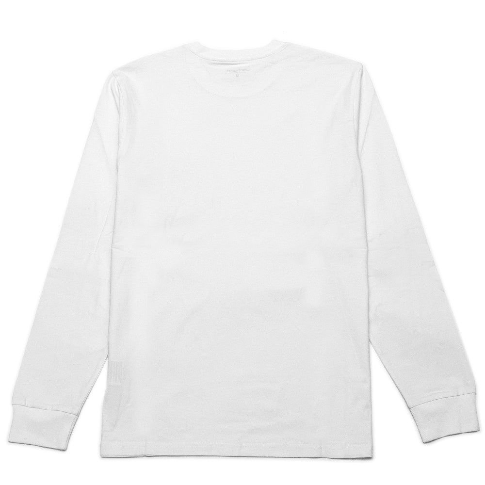 Carhartt W.I.P. Long Sleeve Pocket T-Shirt White at shoplostfound, back