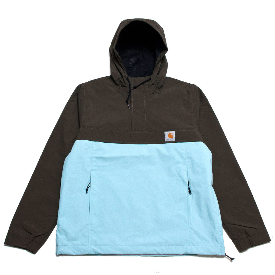 Carhartt W.I.P. Nimbus Two Tone Pullover Cypress Soft Aloe at shoplostfound, front