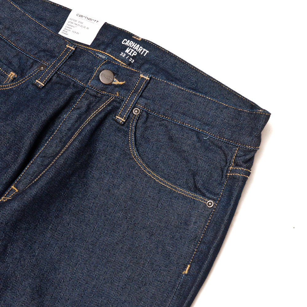 Carhartt W.I.P. Vicious Pant Blue Rinsed at shoplostfound, pocket