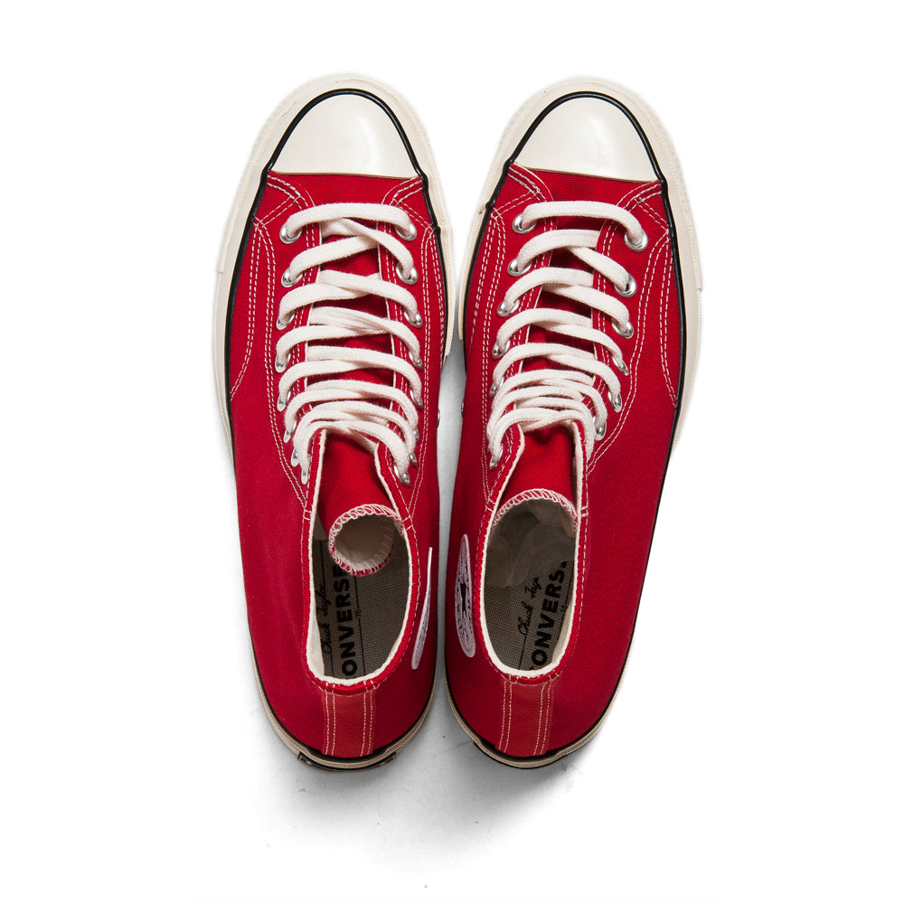 Converse 1970s Hi Enamel Red at shoplostfound, top