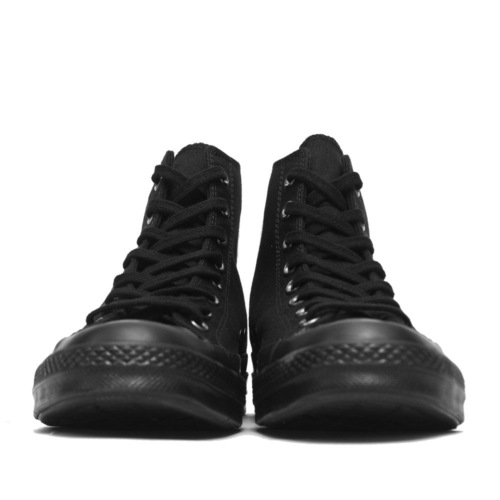 Converse Chuck Taylor 1970s Mono Canvas Black Hi Top 147070C at shoplostfound, front