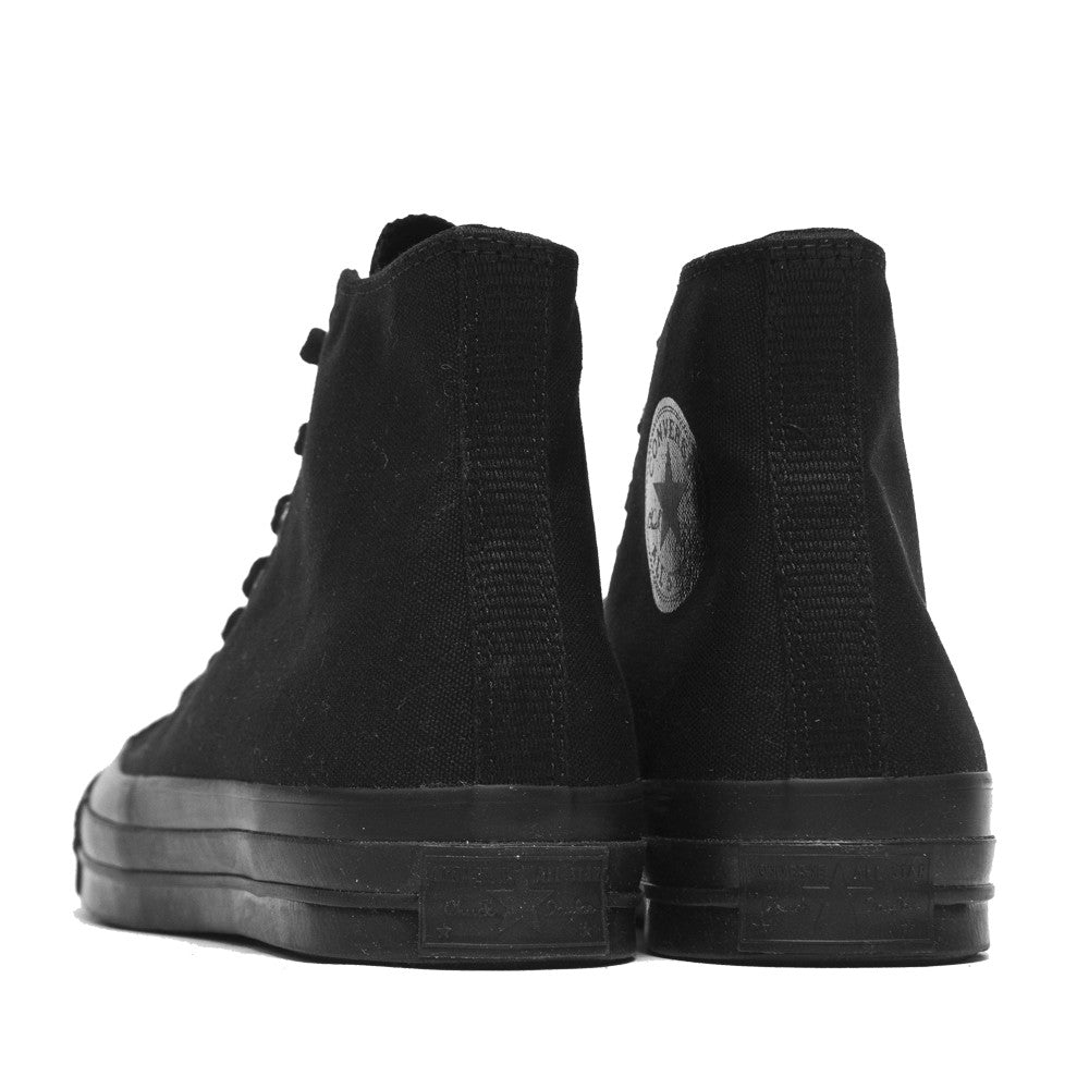 Converse Chuck Taylor 1970s Mono Canvas Black Hi Top 147070C at shoplostfound, back