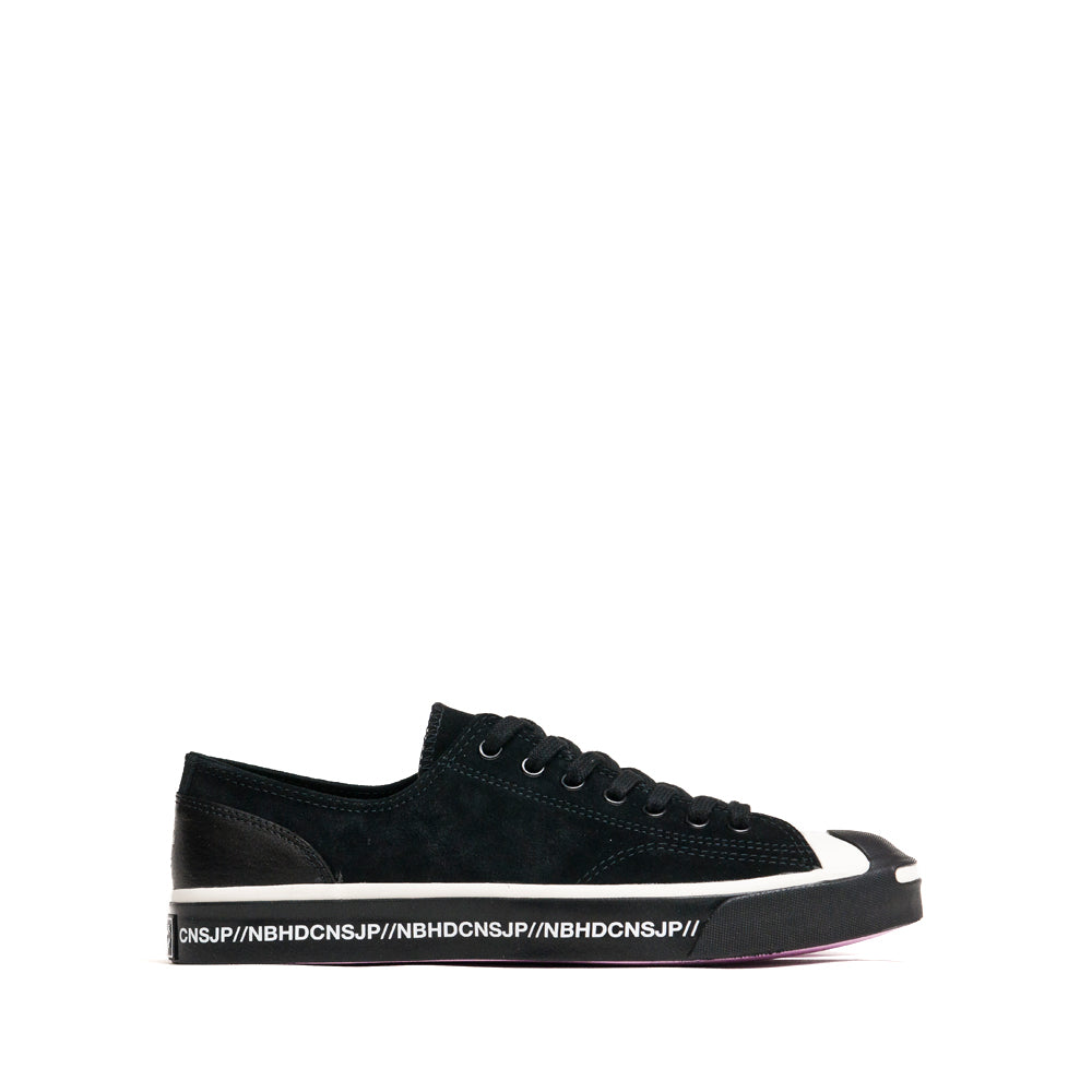 Converse x Neighborhood Jack Purcell Ox Black at shoplostfound, side