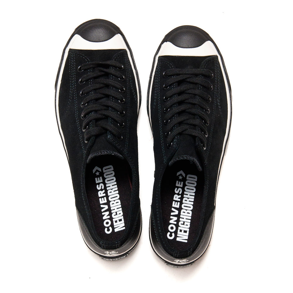 Converse x Neighborhood Jack Purcell Ox Black at shoplostfound, top