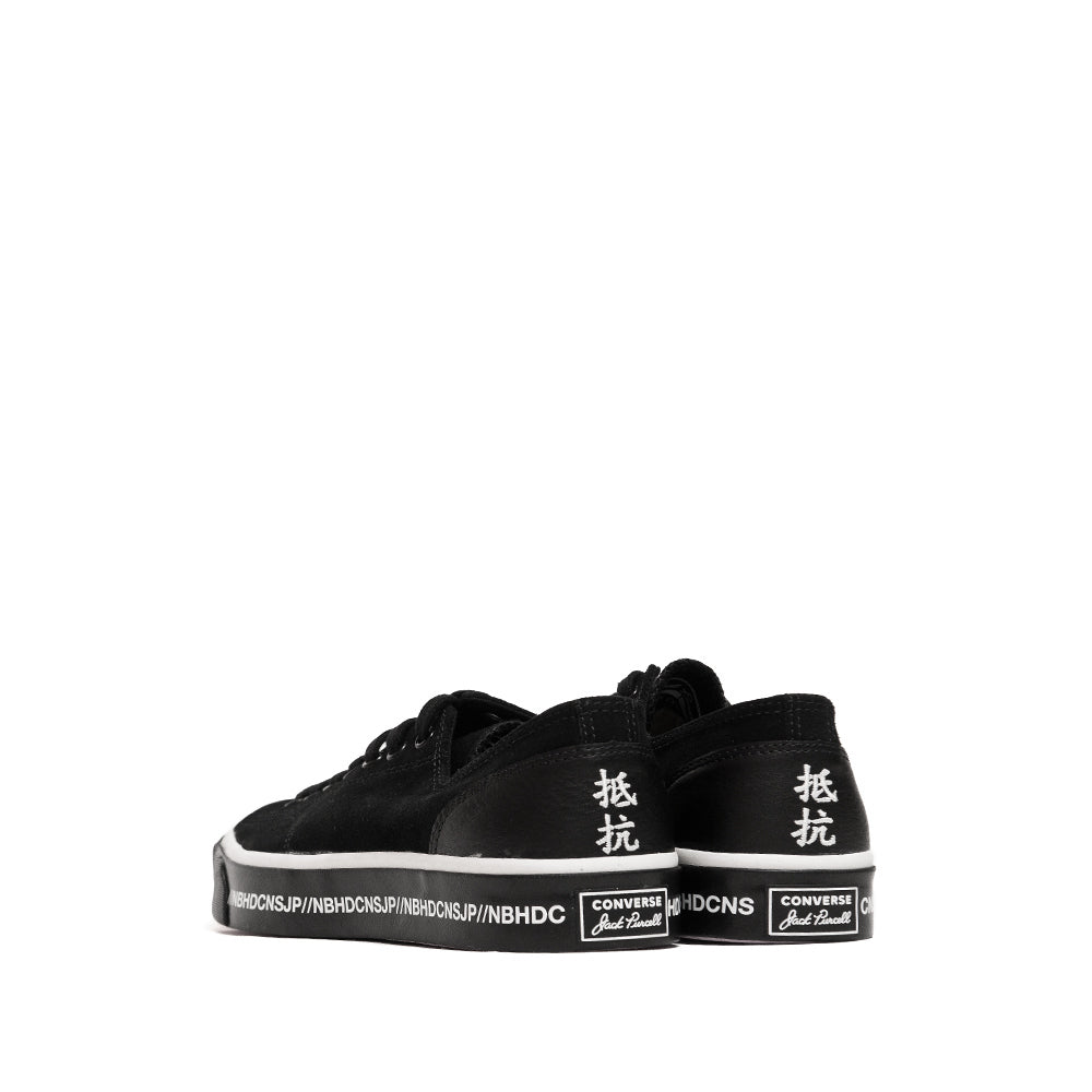 Converse x Neighborhood Jack Purcell Ox Black at shoplostfound, back