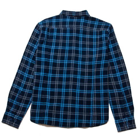 Corridor Basketweave Plaid LS Navy at shoplostfound, front