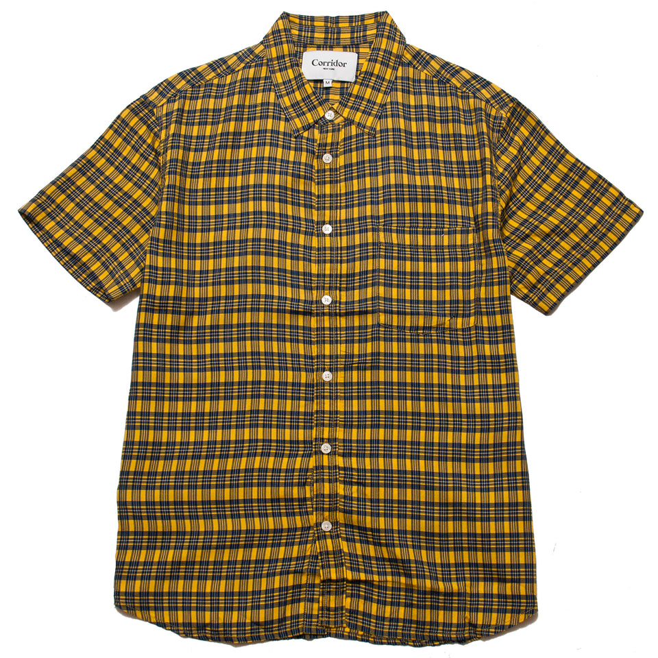Corridor BBQ Plaid Yellow SS at shoplostfound, front