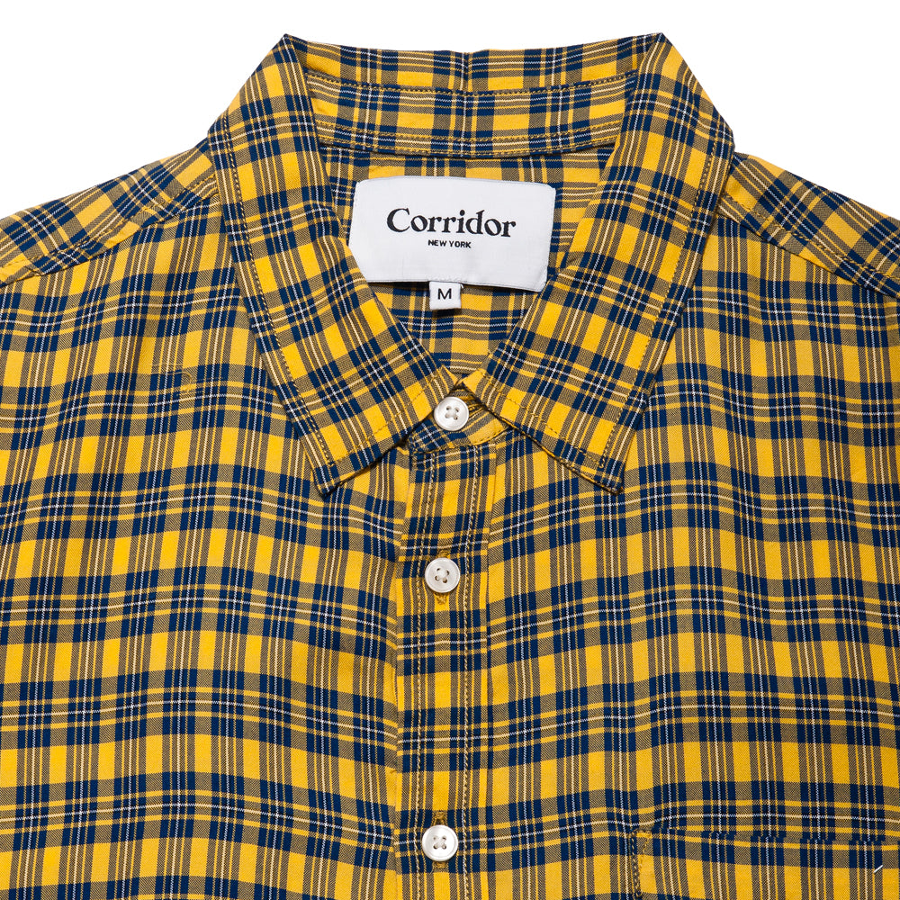 Corridor BBQ Plaid Yellow SS at shoplostfound, neck
