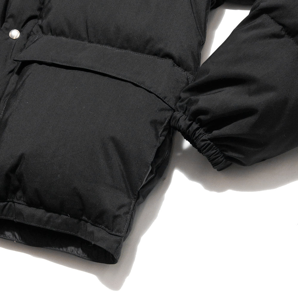 Crescent Down Works 60/40 Classico Parka Black/Black at shoplostfound, cuff