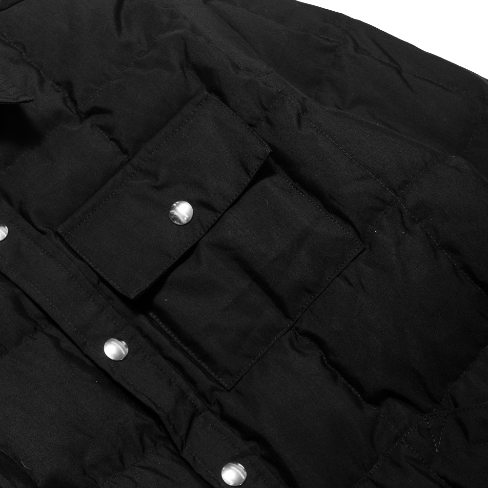 Crescent Down Works 60/40 Black Down Shirt Jacket w/ Pockets at shoplostfound, pocket