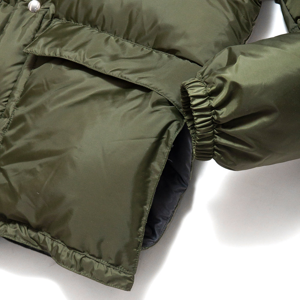 Crescent Down Works 60/40 Classico Parka Olive/Grey at shoplostfound, cuff