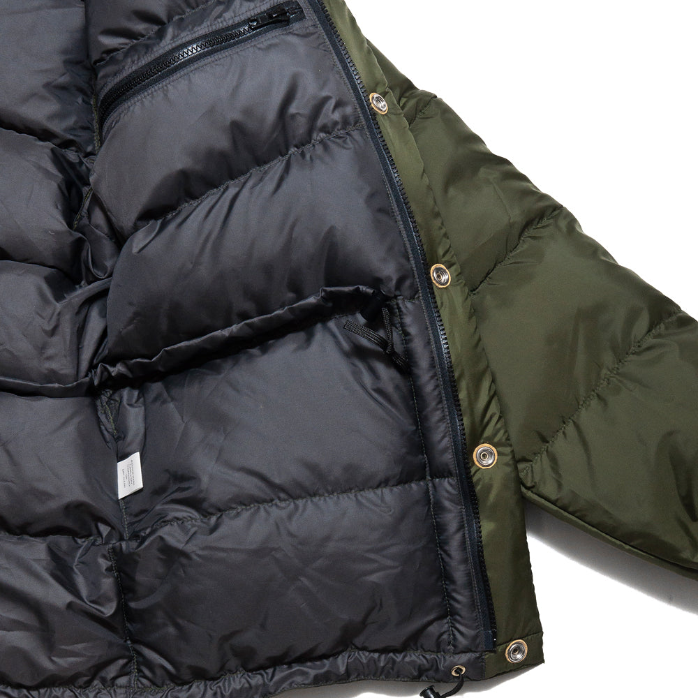 Crescent Down Works 60/40 Classico Parka Olive/Grey at shoplostfound, detail