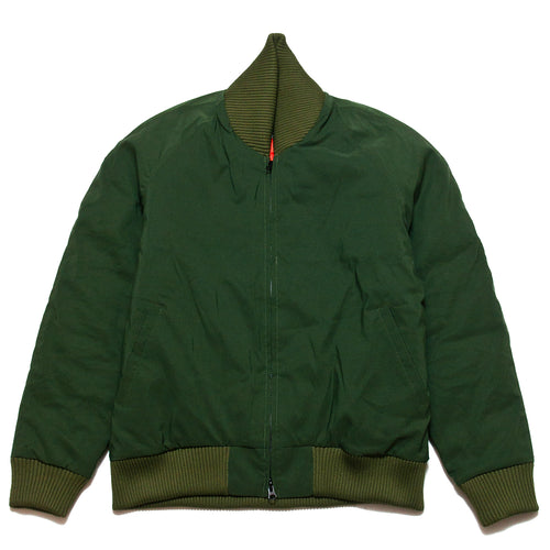 Crescent Down Works 901 Bomber Jacket Olive at shoplostfound, front