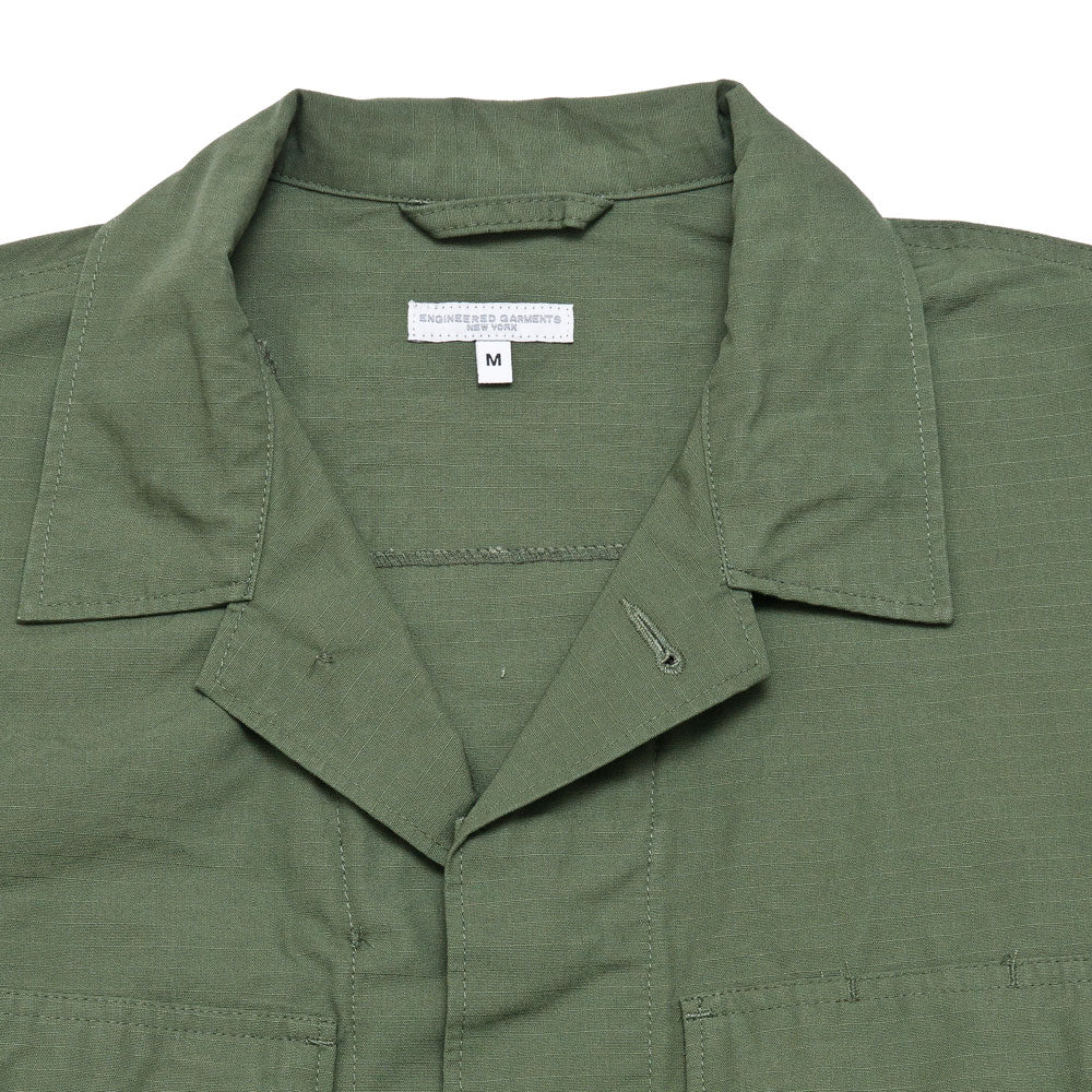 Engineered Garments BDU Jacket Olive Cotton Ripstop shoplostfound 3