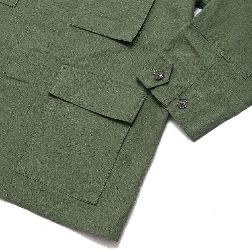 Engineered Garments BDU Jacket Olive Cotton Ripstop shoplostfound 4