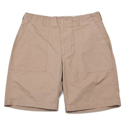 Engineered Garments Fatigue Short Khaki Cotton Ripstop shoplostfound front