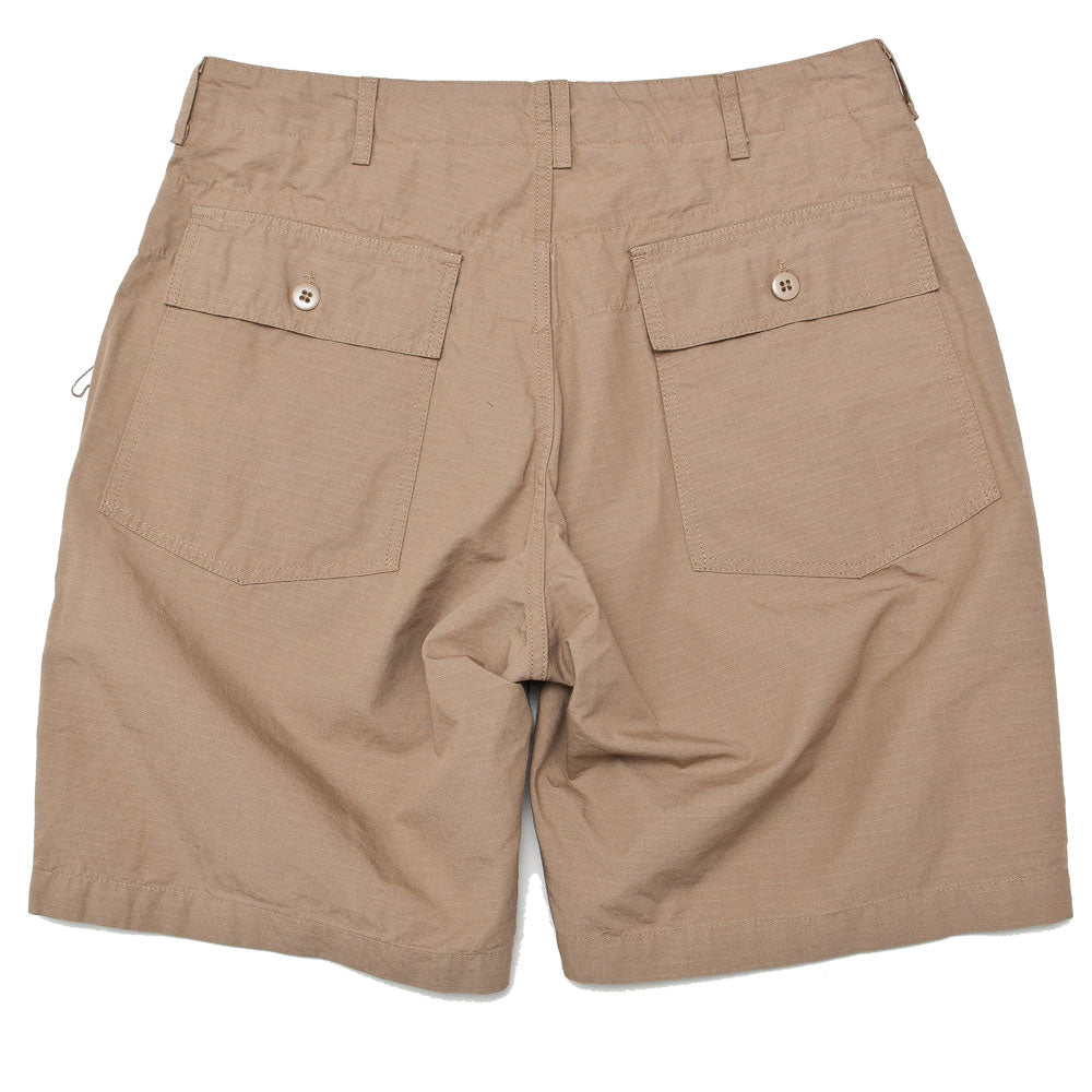 Engineered Garments Fatigue Short Khaki Cotton Ripstop shoplostfound back