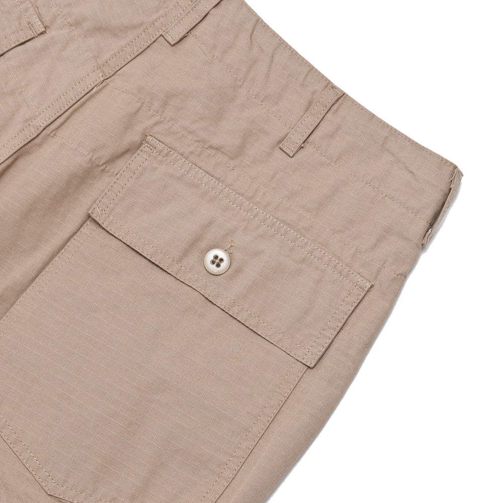 Engineered Garments Fatigue Short Khaki Cotton Ripstop shoplostfound detail