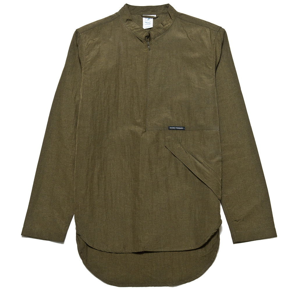 Garbstore Co-Op Pullover Shirt Olive at shoplostfound, front
