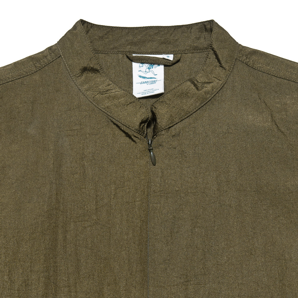 Garbstore Co-Op Pullover Shirt Olive at shoplostfound, neck