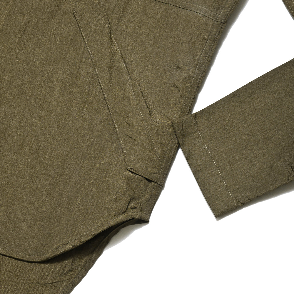 Garbstore Co-Op Pullover Shirt Olive at shoplostfound, cuff