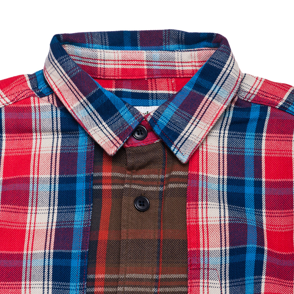Garbstore Log Shirt Red at shoplostfound, neck