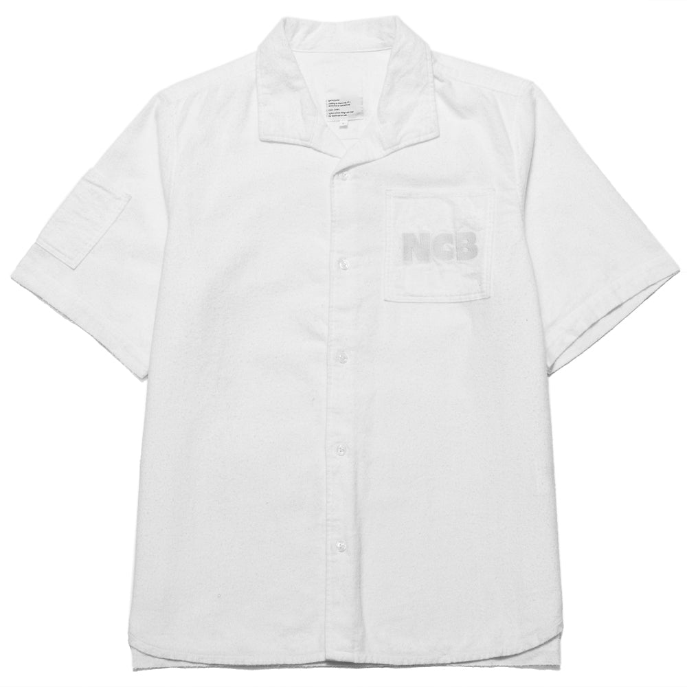 Garbstore NCB Slacker Shirt White at shoplostfound, front