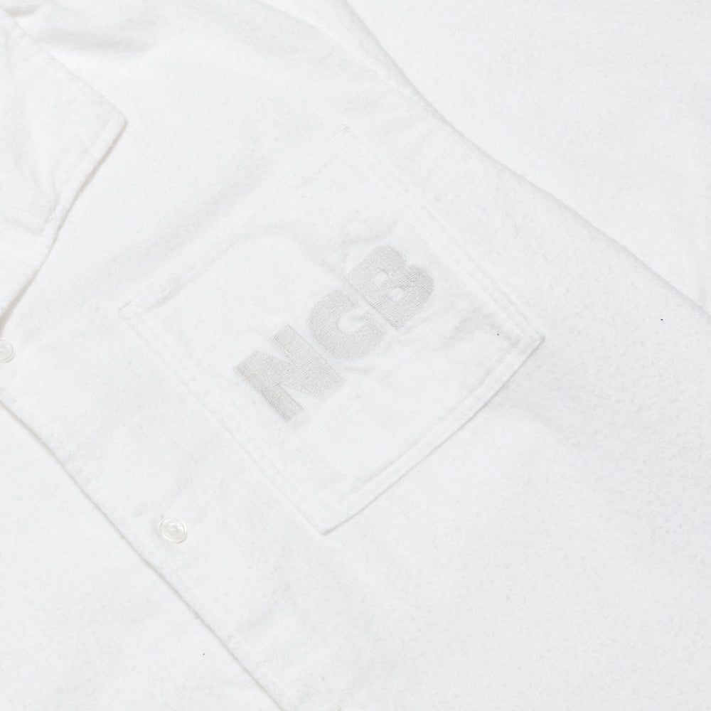 Garbstore NCB Slacker Shirt White at shoplostfound, ncb