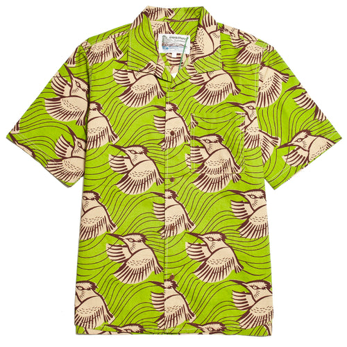 Garbstore Slacker Shirt Green at shoplostfound, front