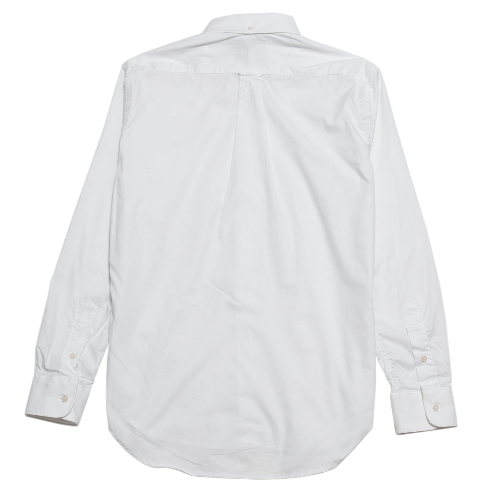 Gitman Vintage Bros. Hidden White Zephyr Oxford Shirt at shoplostfound, back