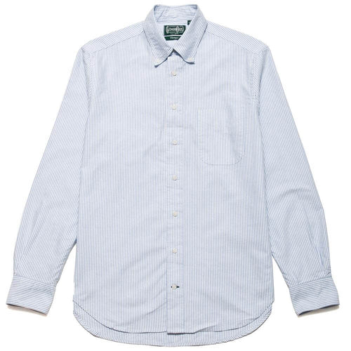 Gitman Vintage Bros. Long Sleeve Blue Stripe Oxford at shoplostfound, front