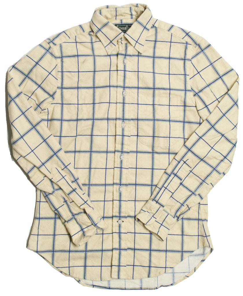 Gitman Vintage Bros. White Windowpane