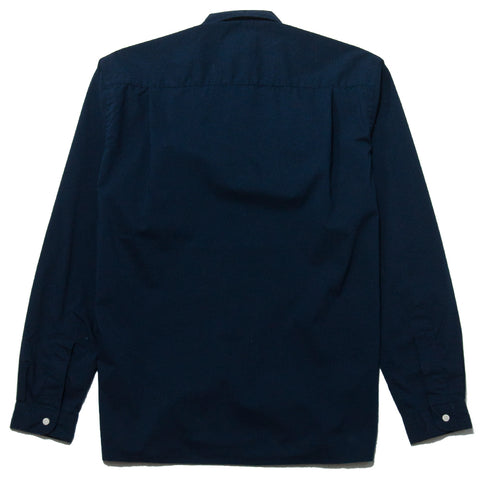 Gitman Vintage Bros. Navy Ripstop Camp Shirt at shoplostfound, front