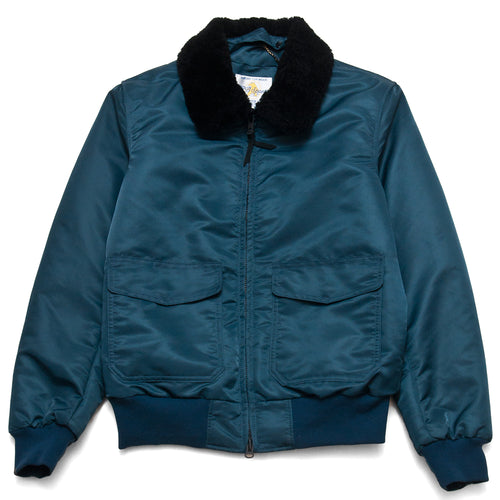 Golden Bear Navy Nylon Flight Jacket at shoplostfound, front