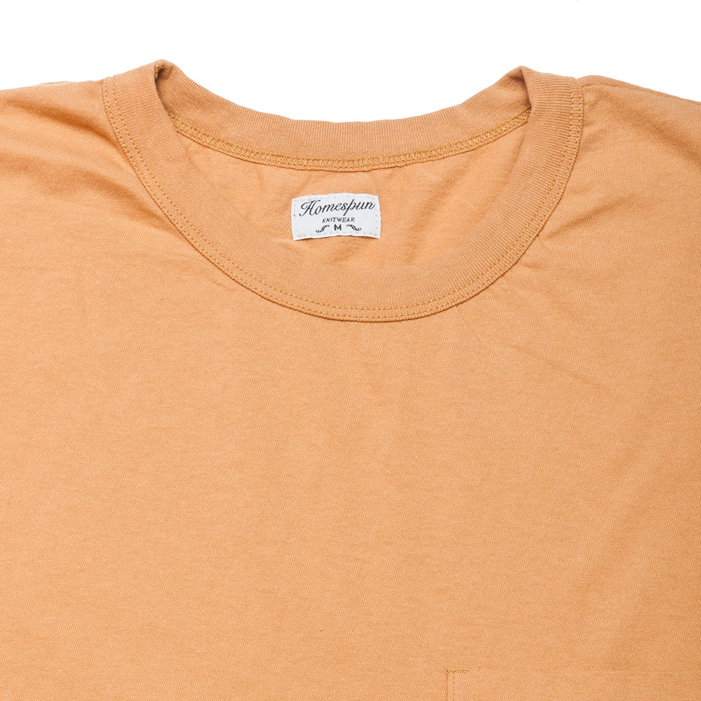 Homespun Dad's Pocket Tee Straw at shoplostfound, neck