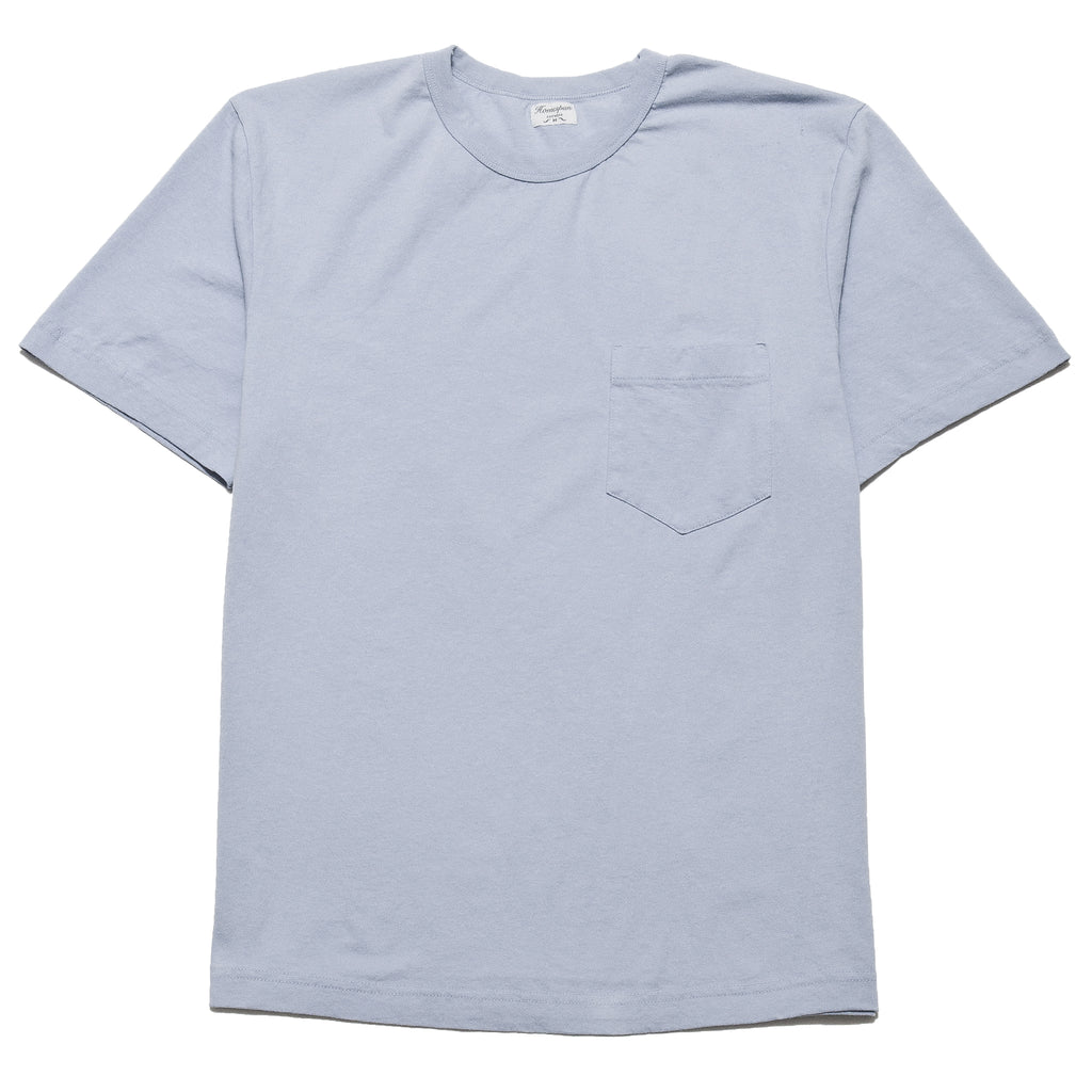 Homespun Dad's Pocket Tee Washed Blue at shoplostfound, front