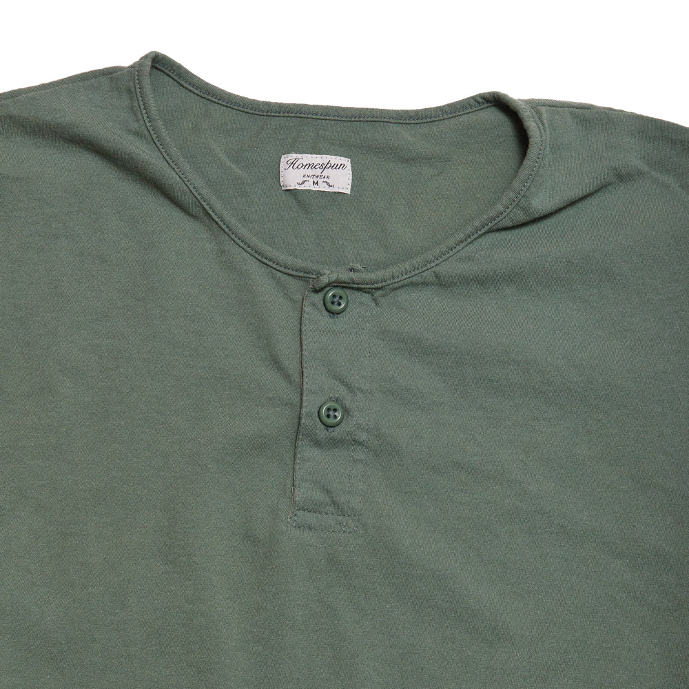 Homespun Great Plains Short Sleeve Pine at shoplostfound, neck
