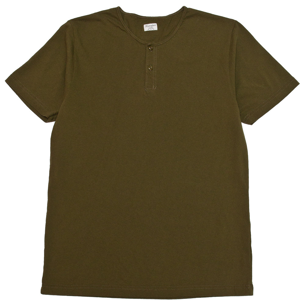Homespun Great Plains Tee Tennessee Jersey Olive at shoplostfound, front
