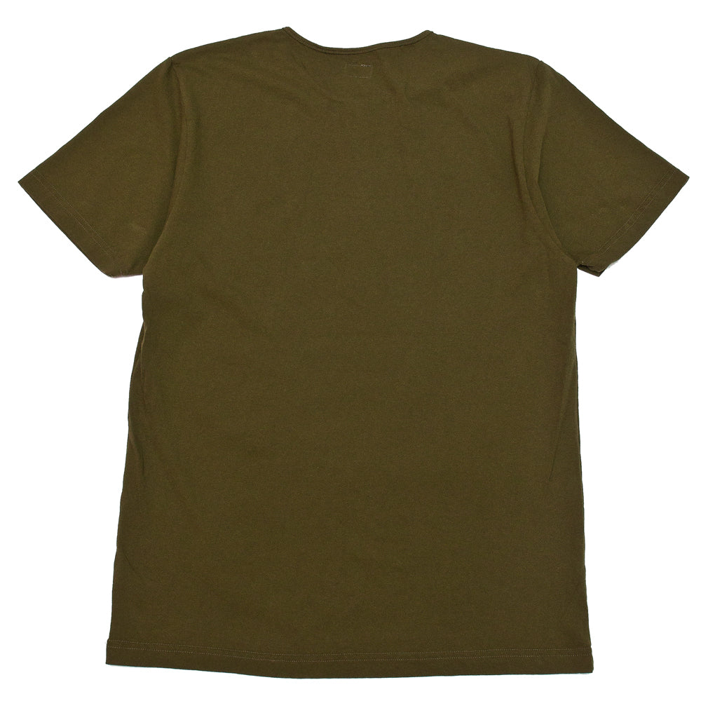 Homespun Great Plains Tee Tennessee Jersey Olive at shoplostfound, back