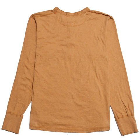 Homespun Long Sleeve Coalminer Henley Straw at shoplostfound, front